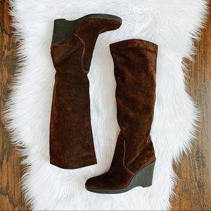 Calvin Klein Soledad Knee High Suede Boots…